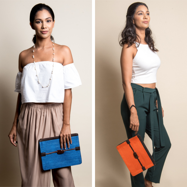 Kantala Clutch Orange and Blue. New Labels Only