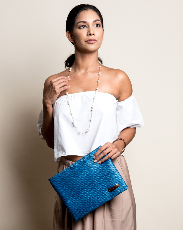 Kantala Blue Clutch. New Labels Only