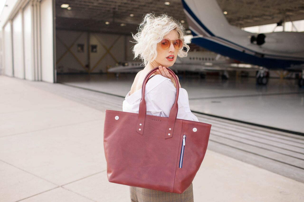 Kerri All Tote in Sangria from Dolyn Bags