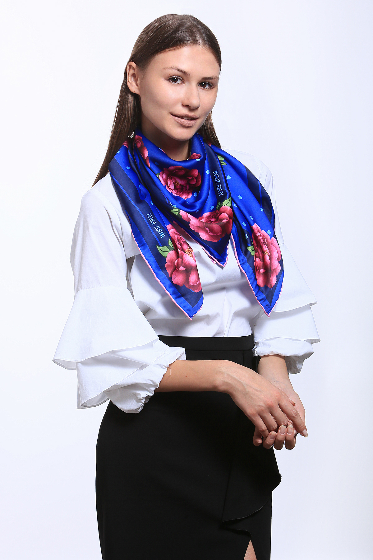 Alber Zoran Square Scarf. Multicoloured Bohemian Luxurious Women's Scarves By Alber Zoran