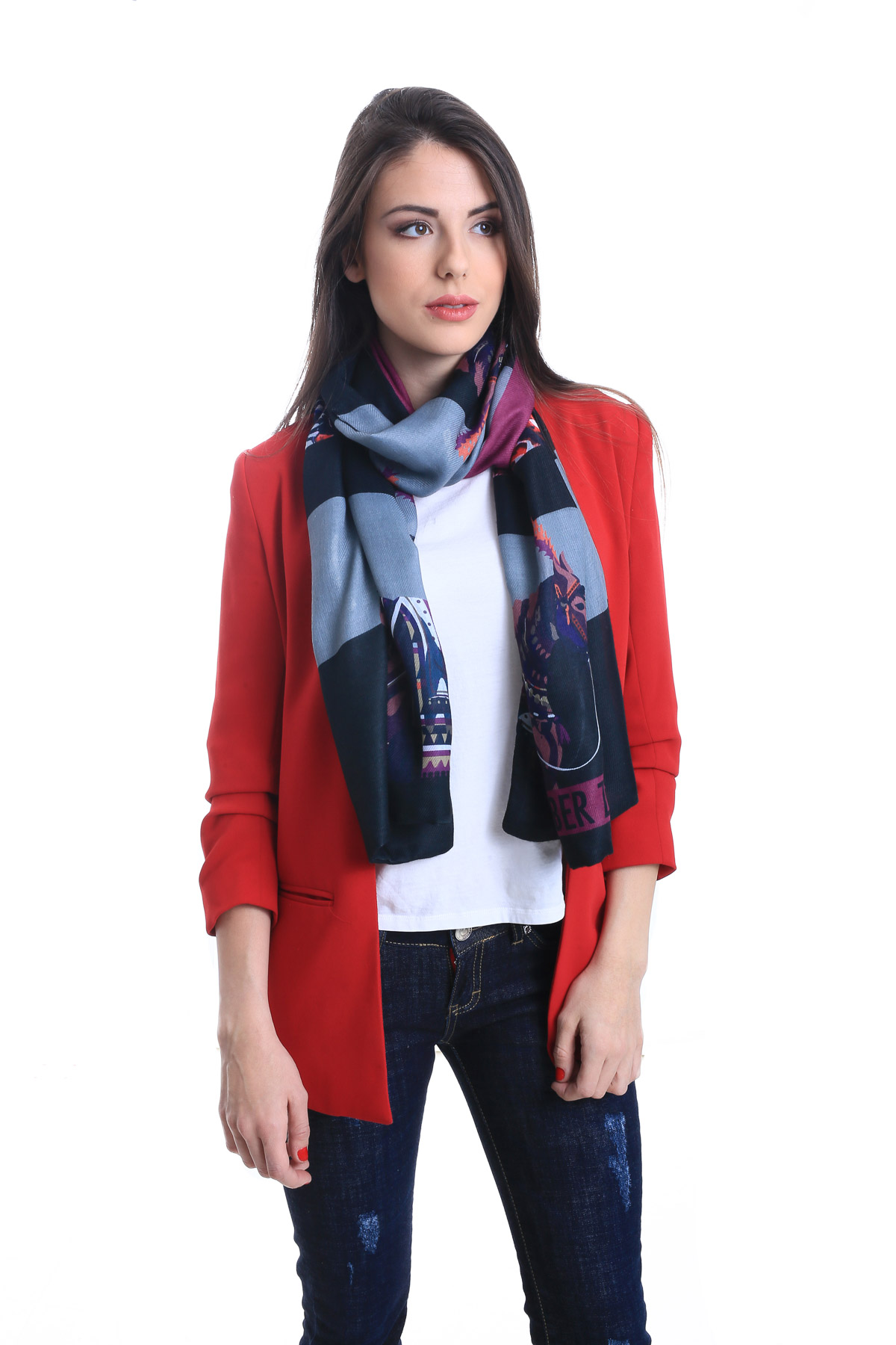 Super Soft Scarf. Multicoloured Bohemian Luxurious Women's Scarves By Alber Zoran