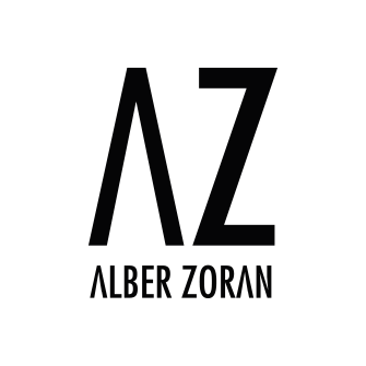 Alber Zoran Logo. multicoloured bohemian luxurious scarves
