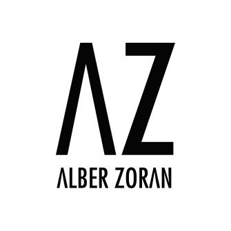 Alber Zoran Logo. multicoloured bohemian luxurious scarves
