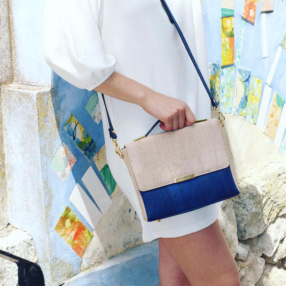 Cork handbags. Cork Blue Crossbody