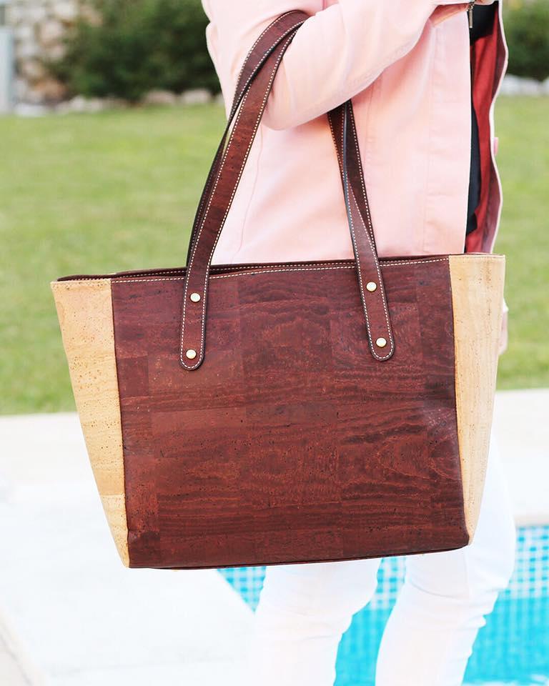 Cork handbag. Rok Cork. tote