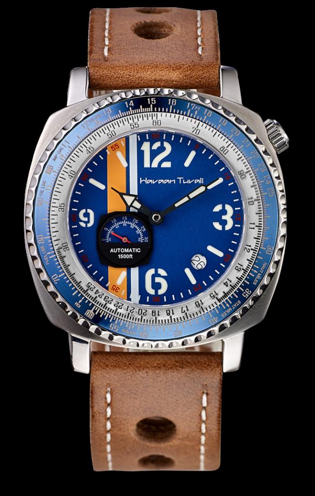 Squadron One Black& Blue Diver watch