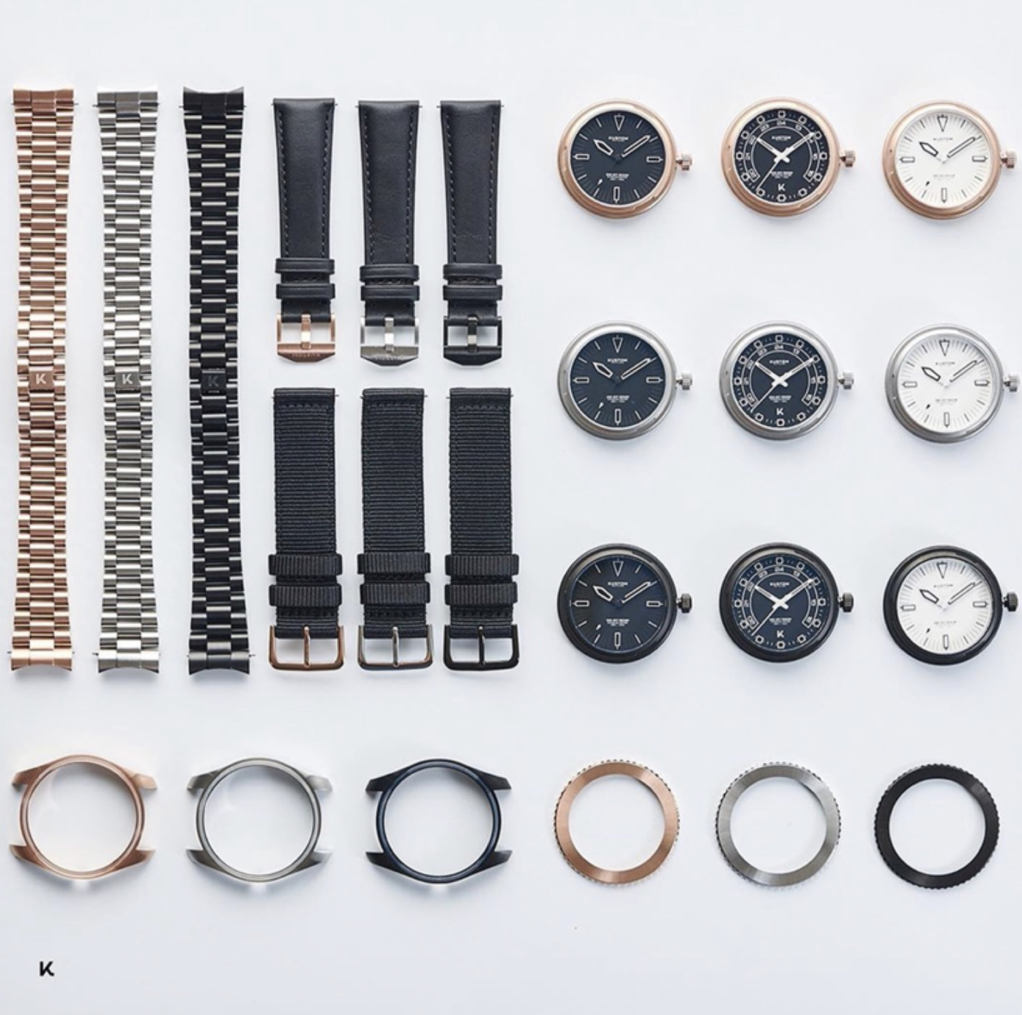 Kustom watches components