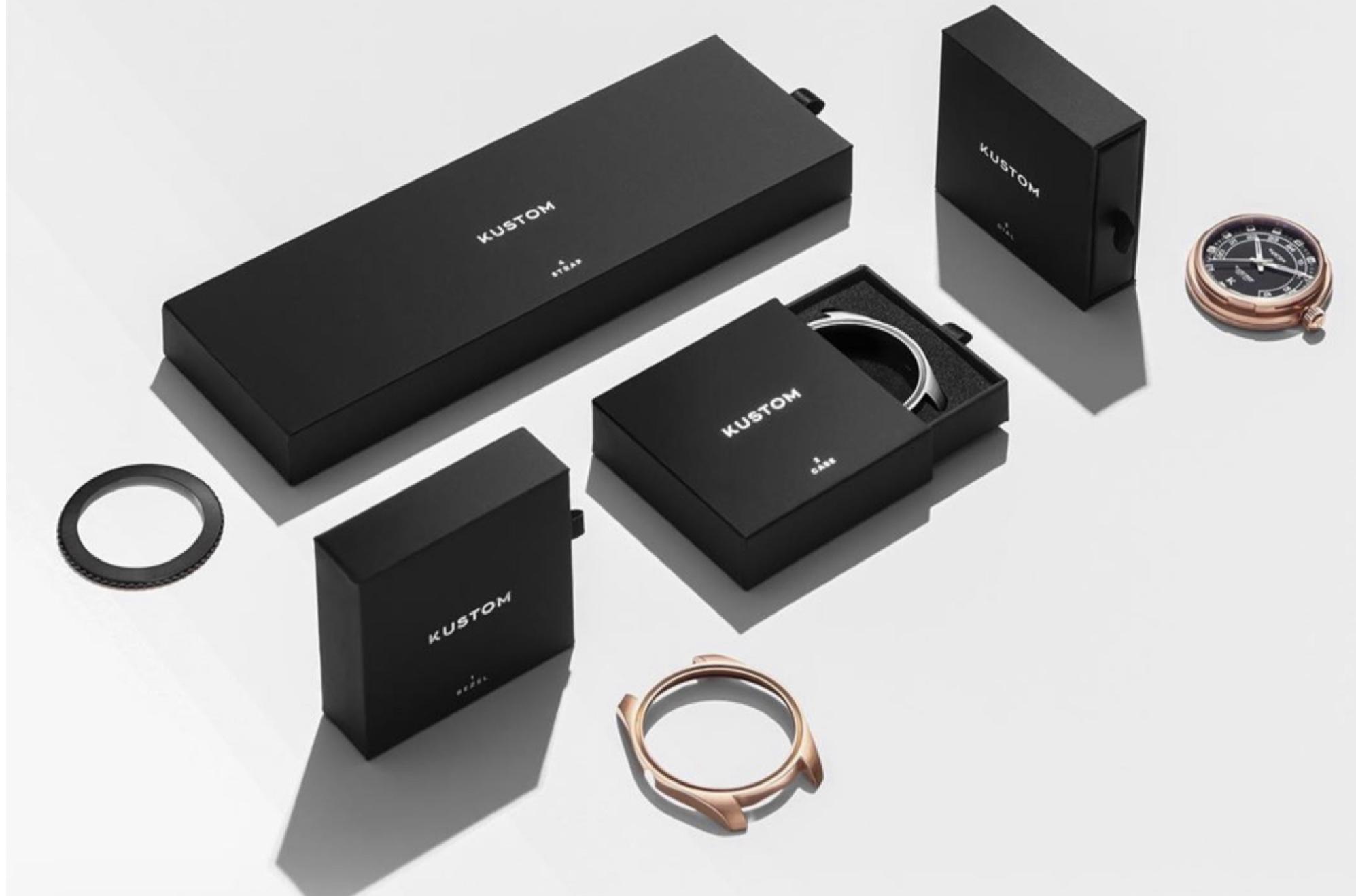 Kustom watches packaging