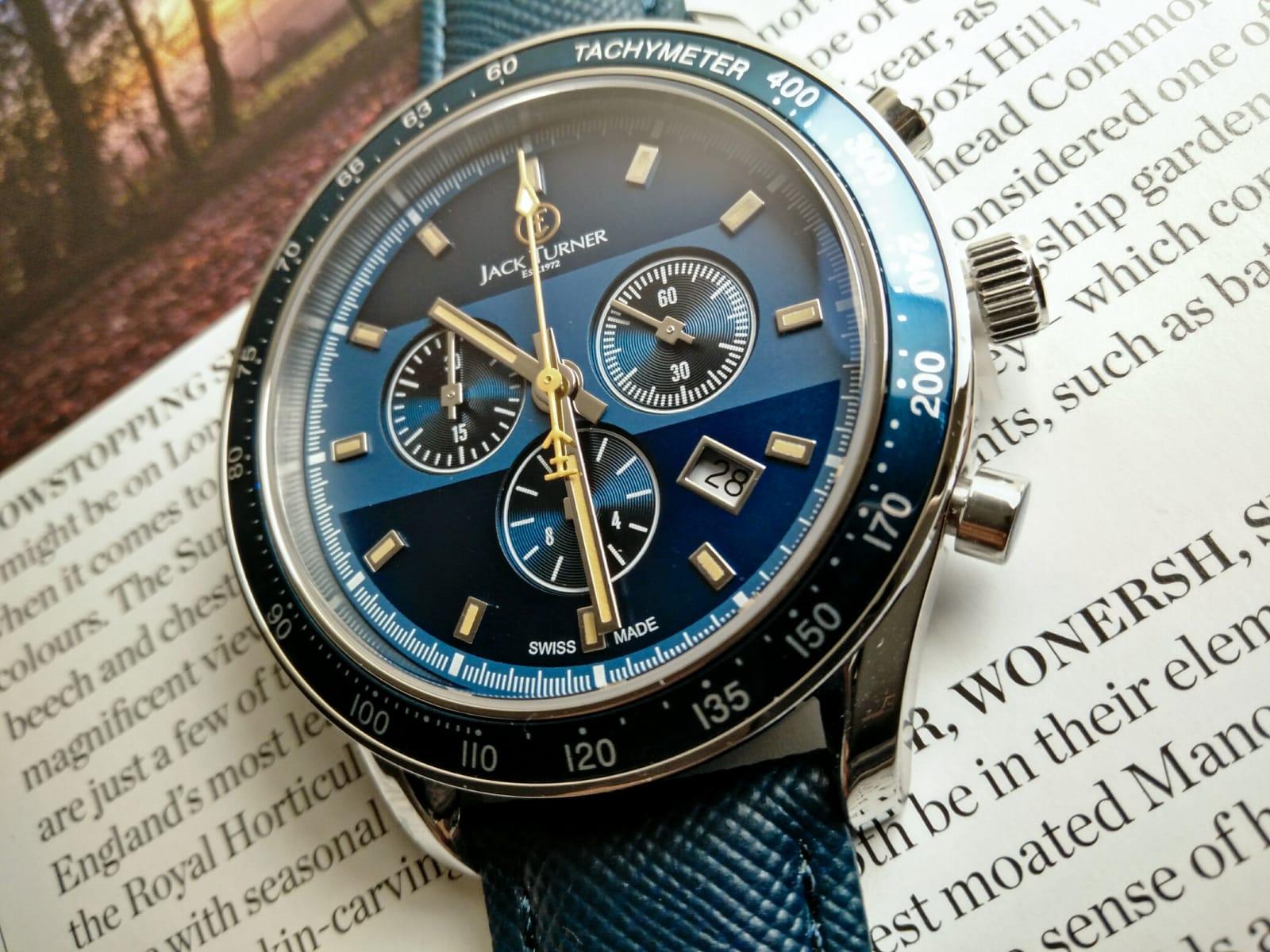 Blue Dia Jack Turner Sports Chronograph